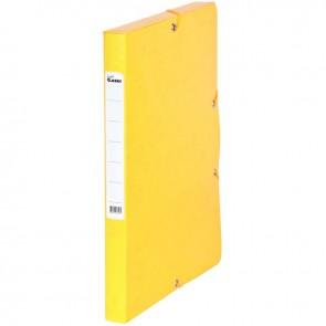 Boîte de classement en carte grainée, dos de 25 mm, coloris jaune