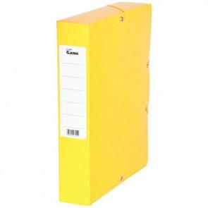 Boîte de classement en carte grainée, dos de 60 mm, coloris jaune
