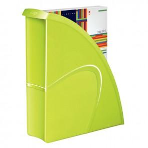Porte revues en polystyrène robuste et rigide CEP dos 8,5 cm gloss anis