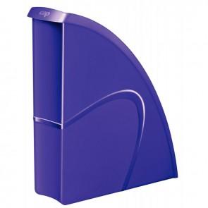 Porte revues en polystyrène robuste et rigide CEP dos 8,5 cm gloss violet