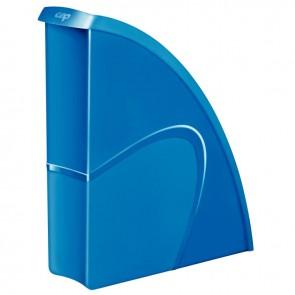 Porte revues en polystyrène robuste et rigide CEP dos 8,5 cm gloss bleu océan