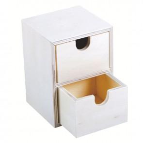 Mini commode en bois 2 tiroirs