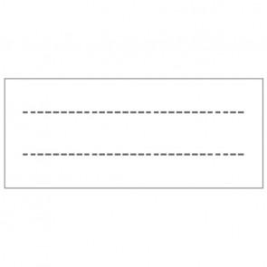 Paquet de 100 étiquettes pour protège-cahiers, format 2,5 x 6 cm