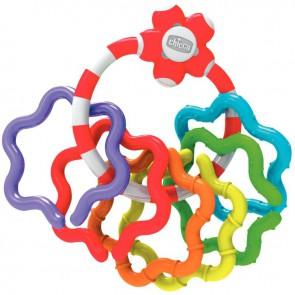 Hochet anneaux colorés détachables