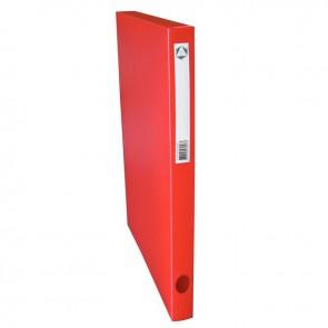 Boite de classement en polypropylène, dos 25 mm, coloris rouge