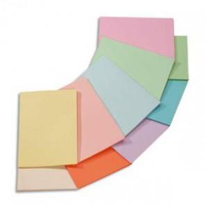 CLAIREFONTAINE Ramette 5x100F papier couleur Trophée 80g A4 assortis pastel rose,canari,vert,bleu,saumon (Default)