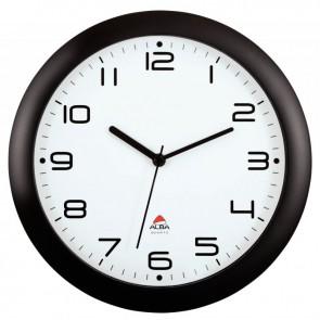 Horloge silencieuse diamètre 30cm noire