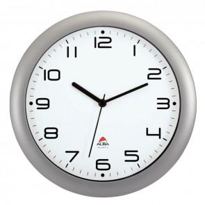 Horloge silencieuse diamètre 30cm gris métal