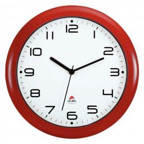 Horloge silencieuse diamètre 30cm rouge