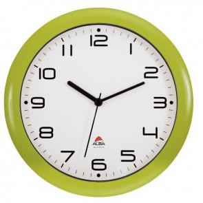 Horloge silencieuse diamètre 30 vert anis