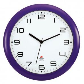 Horloge silencieuse diamètre 30cm prune