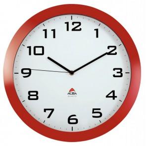 Horloge silencieuse diamètre 38cm rouge