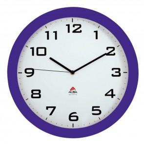 Horloge silencieuse diamètre 38cm prune