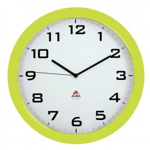 Horloge silencieuse diamètre 38cm vert anis