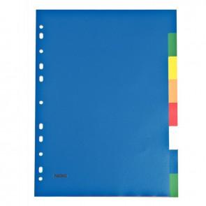 Jeu de 8 intercalaires couleur en polypropylène format A4 12/100e