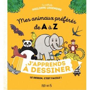 Livre J'apprends à dessiner mes animaux préférés de A à Z