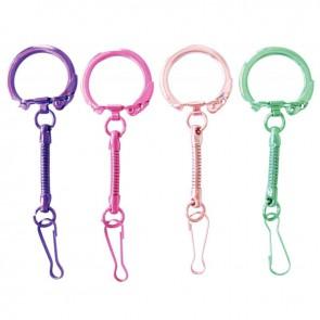 Sachet de 10 porte-clés métallisés avec mousqueton