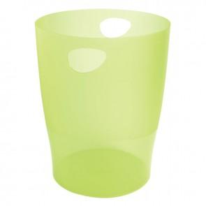 Corbeille à papier Ecobin vert transparent 15L