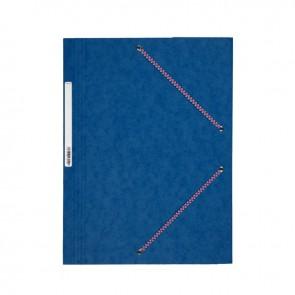Chemise 3 rabats à élastiques en carte lustrée 5/10ème 350g bleu
