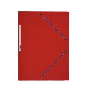 Chemise 3 rabats à élastiques en carte lustrée 5/10ème 350g rouge