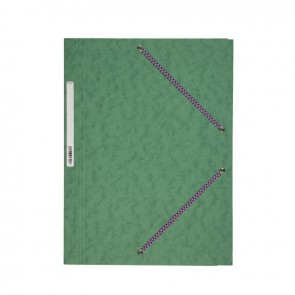 Chemise 3 rabats à élastiques en carte lustrée 5/10ème 350g vert