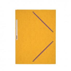 Chemise 3 rabats à élastiques en carte lustrée 5/10ème 350g jaune