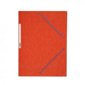 Chemise 3 rabats à élastiques en carte lustrée 5/10ème 350g orange