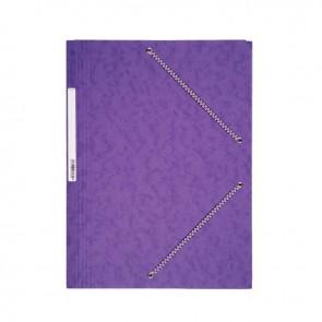 Chemise 3 rabats à élastiques en carte lustrée 5/10ème 350g violet