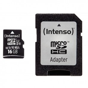 Carte mémoire Intenso micro SD UHS I Professionnel 16 GO