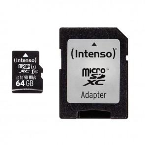 Carte mémoire Intenso micro SD UHS I Professionnel  64GO