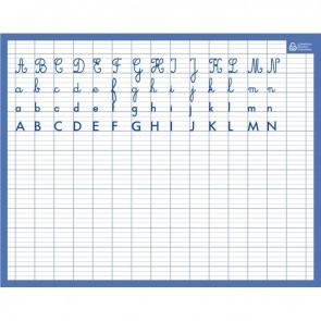 Ardoise effaçable à sec alphabet/seyes
