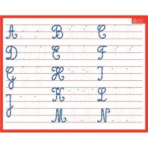 Ardoise effaçable à sec majuscules/cursives