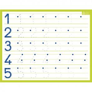 Ardoise effaçable à sec chiffres 21x26.5cm