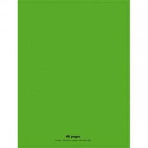 CONQUERANT Cahier piqûre 24x32cm 48 pages 90g séyès grands carreaux. Couverture polypropylène vert