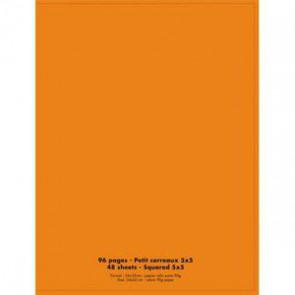 NEUTRE Cahier piqûre 24x32 96 pages petits carreaux 90g. Couverture polypro orange (Default)