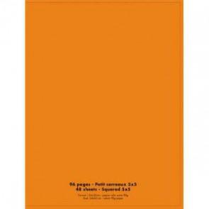 NEUTRE Cahier piqûre 24x32 96 pages petits carreaux 90g. Couverture polypro orange (Default)
