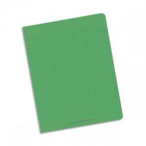 NEUTRE Cahier piqûre 24x32 96 pages petits carreaux 90g. Couverture polypro vert (Default)