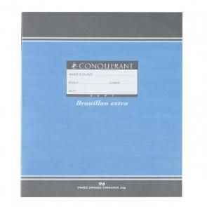 Cahier de brouillon pas cher, cahier de brouillon en piqûre de 48 pages Seyès 17 x 22