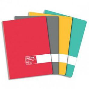 Cahier piqûre 24 x 32 cm 96 pages uni