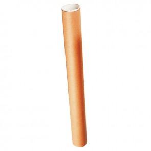 Tube d'expédition en carton rond longueur total 530mm diamètre 50mm + 2 bouchons