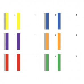 Lot de 10 blocs vendeurs 1 souche coloris assortis