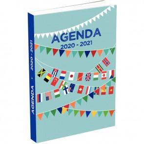 """Agenda septembre à août 1 page par jour 11,5 x 17 cm motif """"DRAPO"""""""