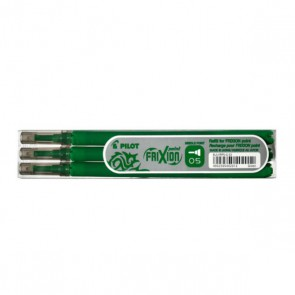 Recharges  pour 3 roller gel Frixion effacable 0,5mm VERT recharge frixion 0,5 mm