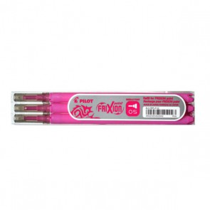 3 recharges  roller gel Frixion fines 0,5mm ROSE recharge frixion 0,5 mm