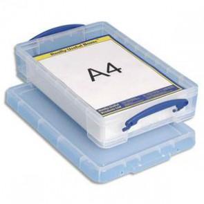 Boîte de rangement + couvercle 4 Litres - Dimensions : L 39,5 x H 8,8 x P 25,5 cm.