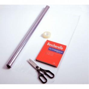 Rouleau en plastique incolore, qualité supérieure PVC 50x0,70 m épaisseur : 9/100è