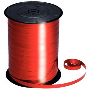 Bobine de 250m de longueur sur 7 mm de largeur de bolduc lisse rouge métallisé