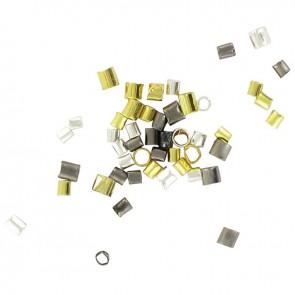 Sachet de 180 perles tubes à écrasées assortis