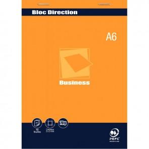 Bloc direction 80 feuilles 70g format A6 quadrillé 5x5