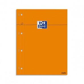 Bloc de cours 80 feuilles 80g agrafé, perforé 4 trous grands carreaux Seyès page A4 Ref. OXFORD OFFICE  100106288